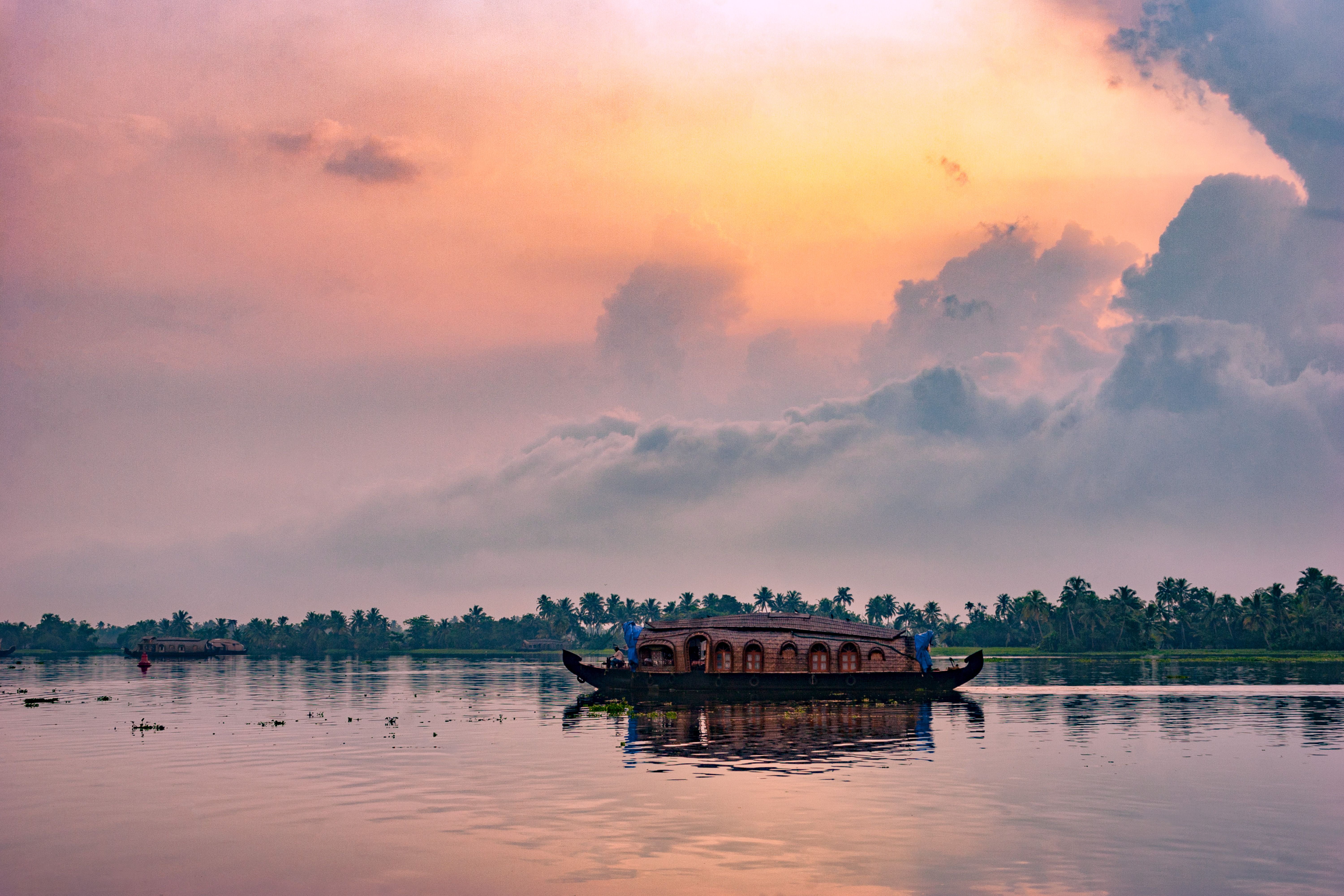 Paseo en barco por los backwaters en Alleppey - India Gran Viaje Sur de la India