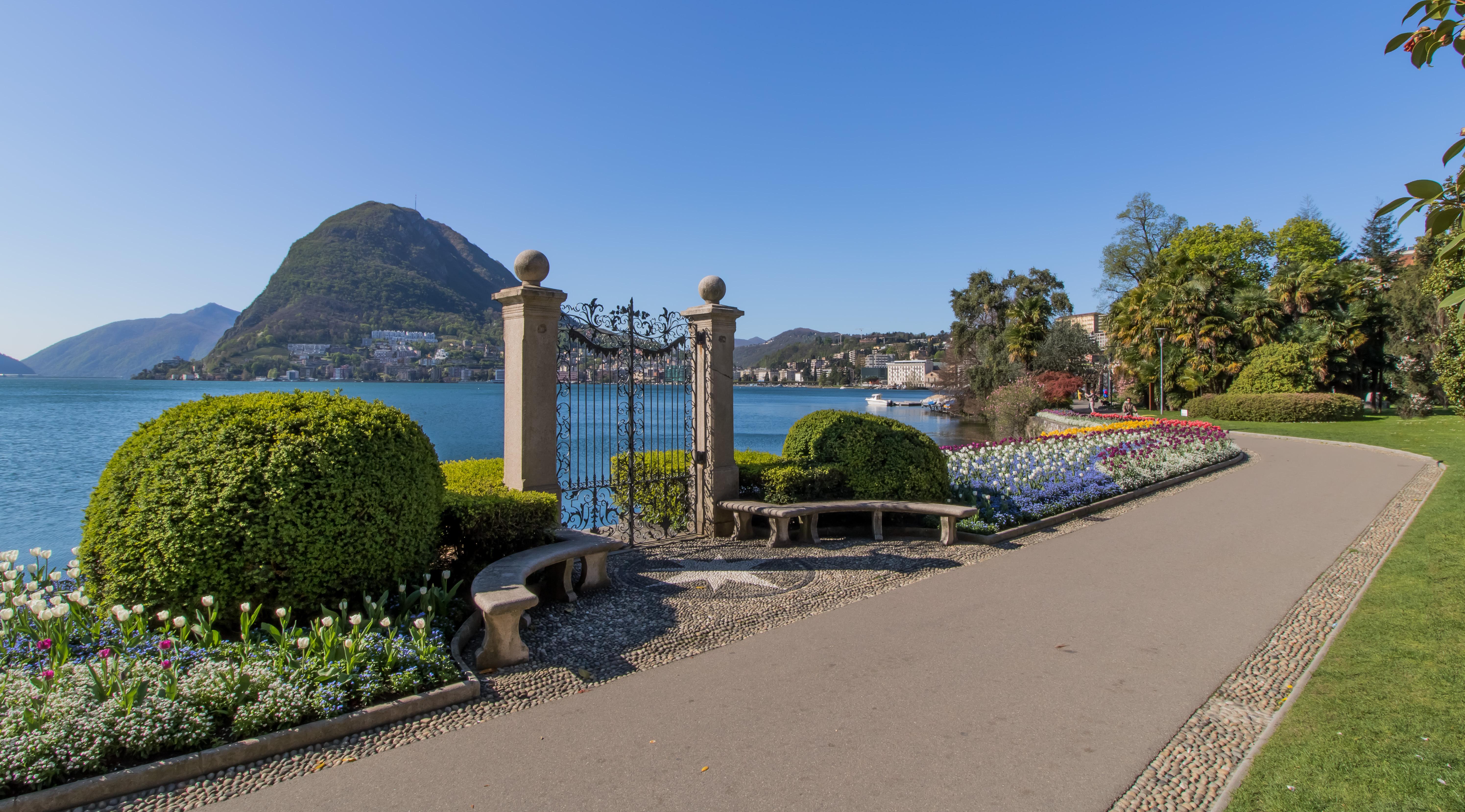 El parque cívico Ciani, un remanso de paz en el corazón de Lugano - Italia Circuito Lagos italianos