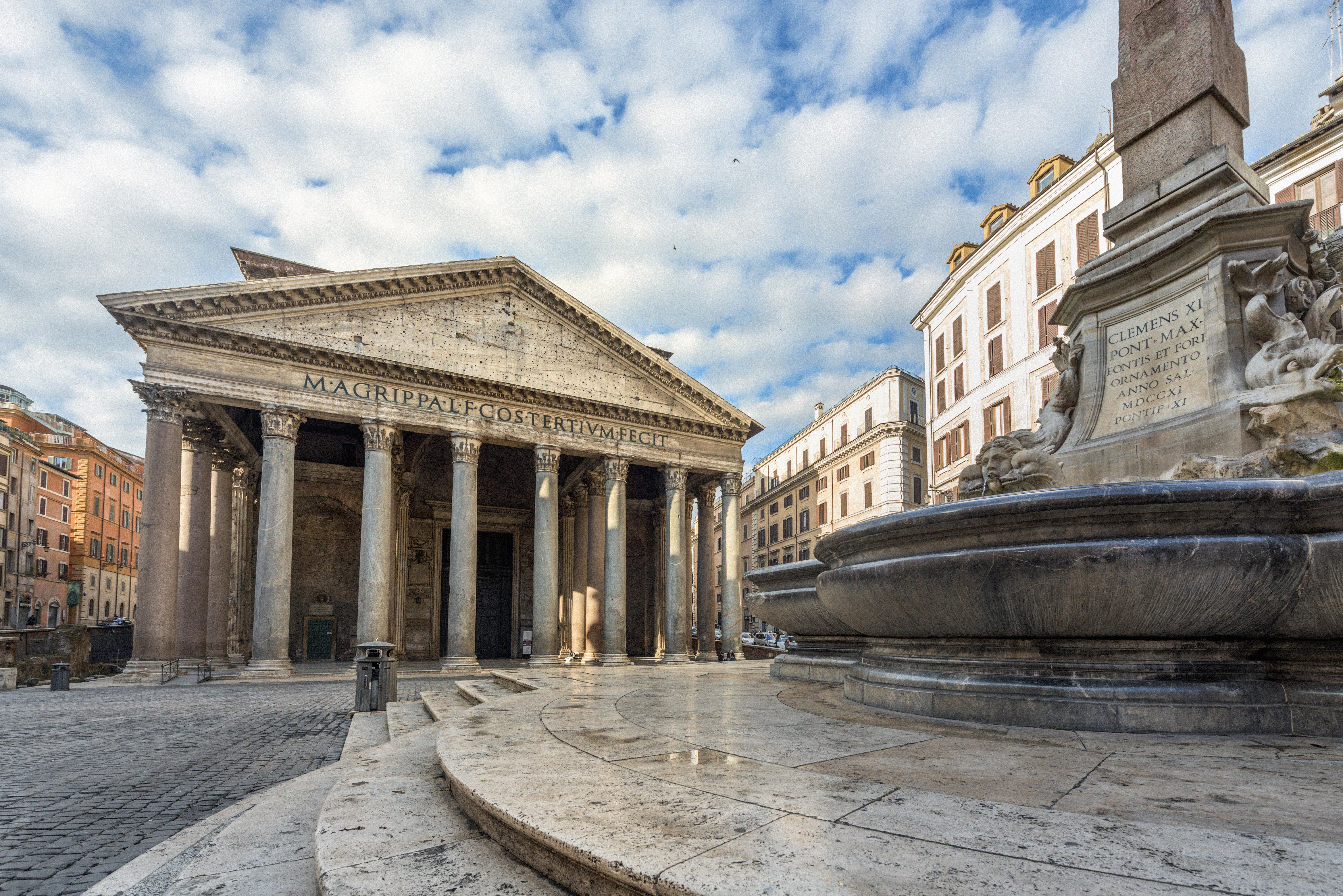 El sublime espectáculo de la nieve en el Panteón - Italia Circuito Italia Monumental: Roma, Florencia y Venecia