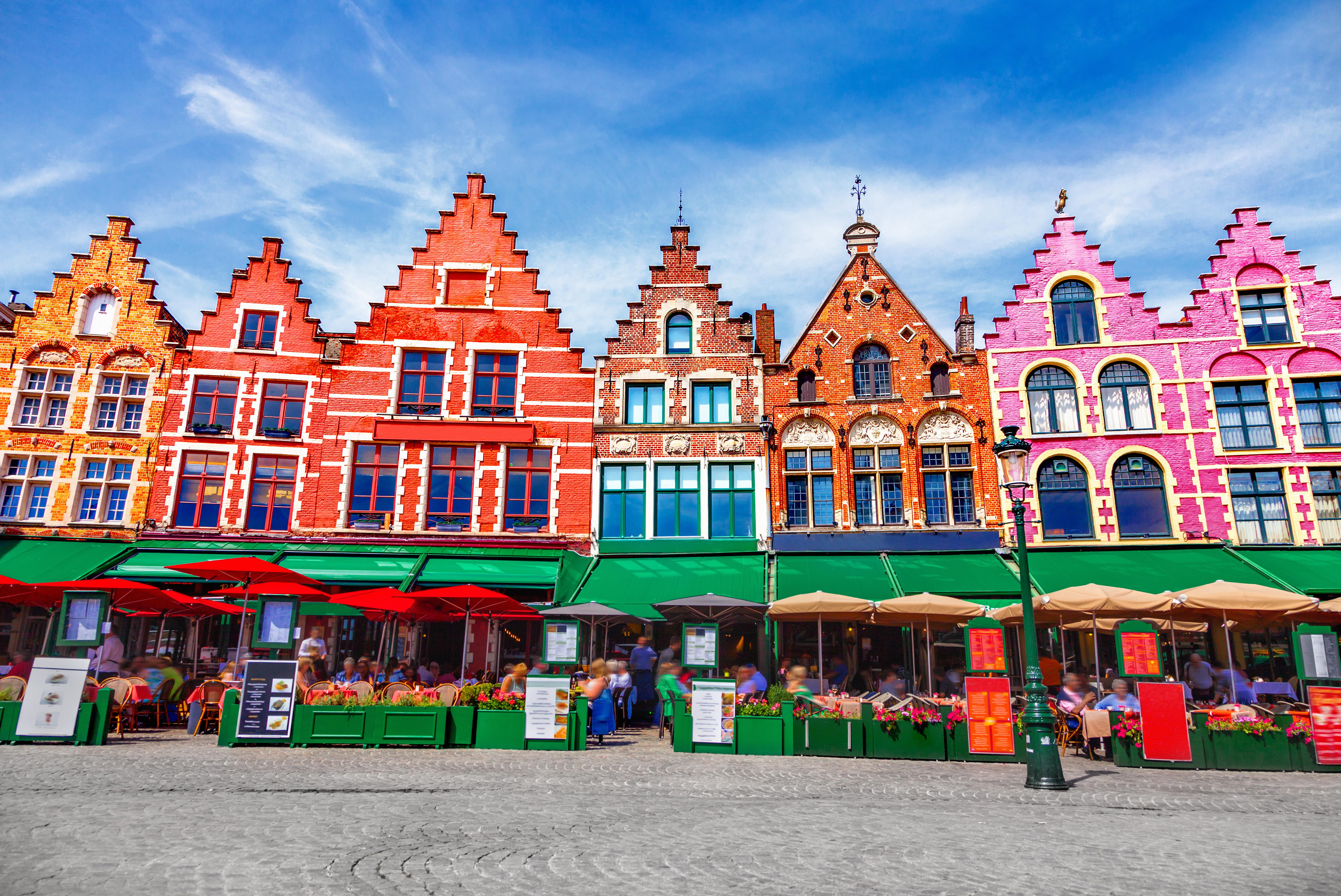 Día de mercado en Brujas - Bélgica Circuito Londres, Países Bajos y el Rhin