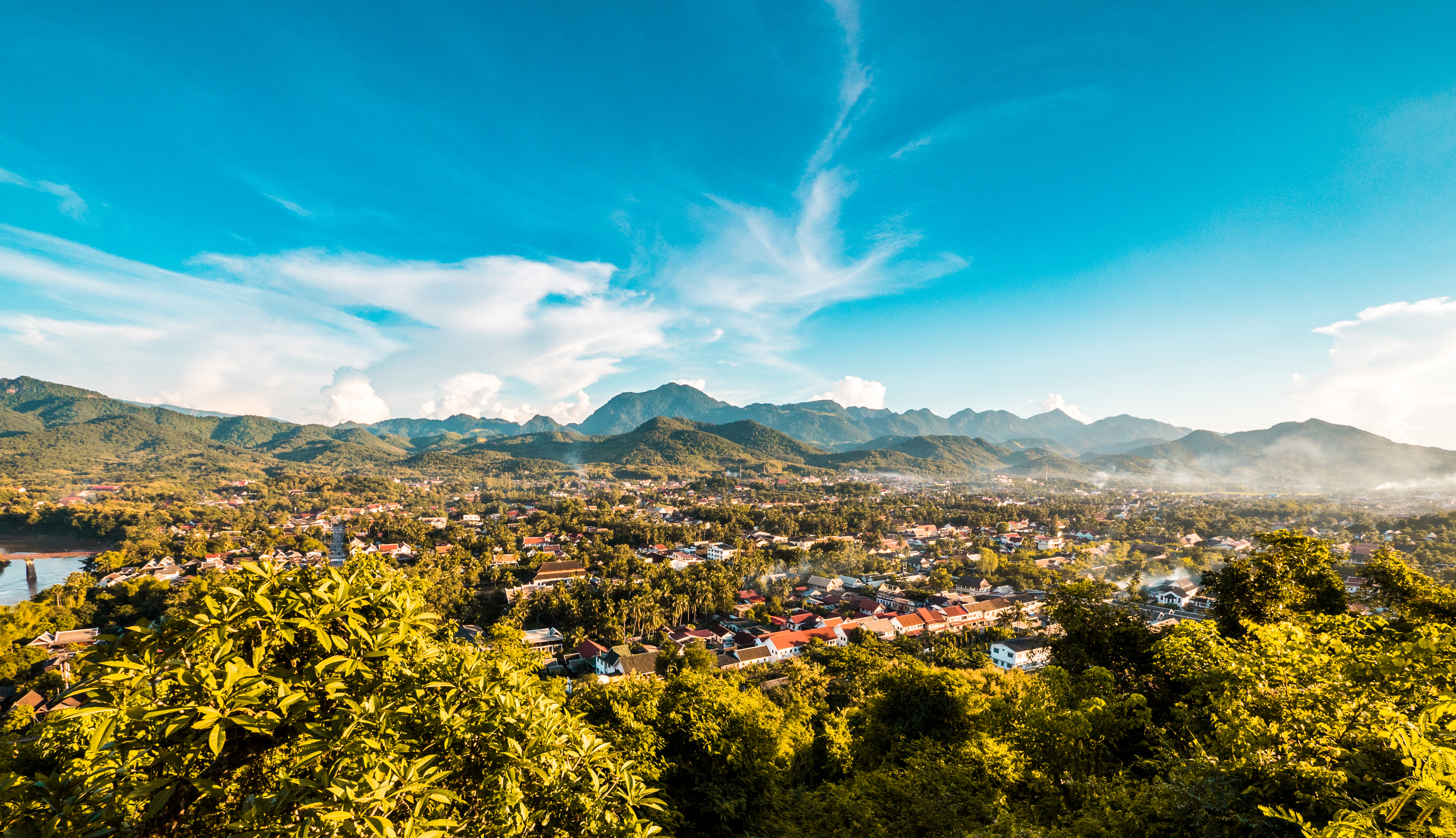 Disfrutar de las mejores vistas de Luang Prabang - Vietnam Gran Viaje Gran Tour de Indochina